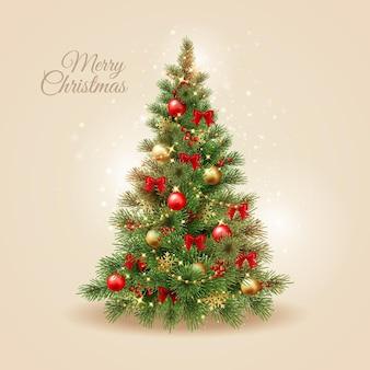 Árbol de navidad realista