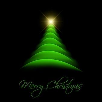 Árbol de navidad sobre fondo negro