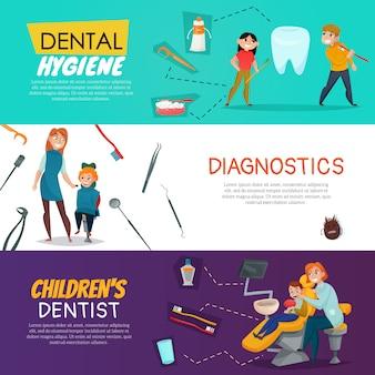 Árbol de odontología pediátrica con diagnóstico de higiene dental para niños