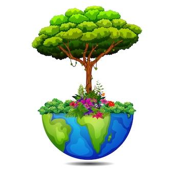 Árbol en la tierra