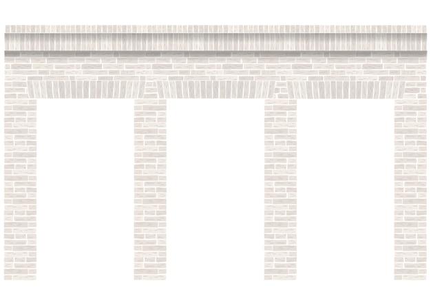 Arcade vintage de la mampostería. pared y fachada