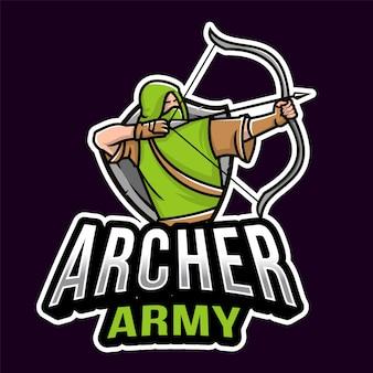 Archer army esport logotipo