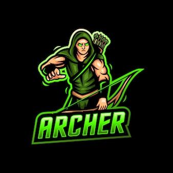 Archer mascota logo esport