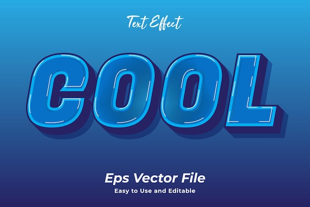 Archivo de vector fresco de efecto de texto listo para usar