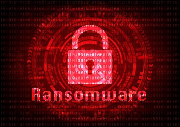 Archivos encriptados del virus abstracto malware ransomware.