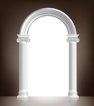 Arco blanco realista