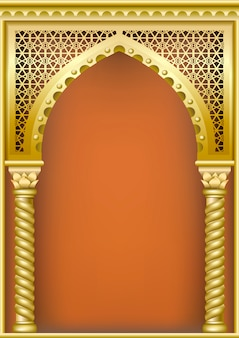 Arco de estilo oriental árabe