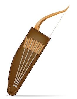 Arco con flechas para disparar