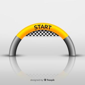Arco inflable de línea de salida con diseño realista