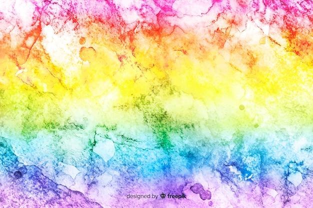 Arco iris en el fondo de estilo tie-dye