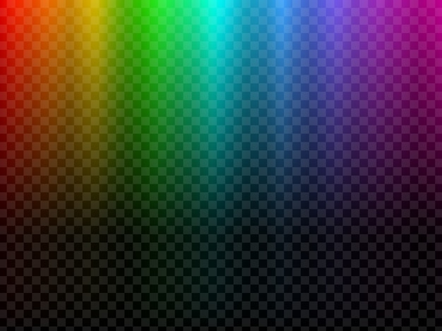 Arco iris de luz brillante. efecto polar de la luz del norte
