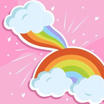 Arco iris nubes cielo