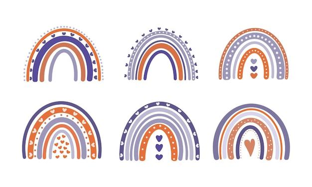 Arco iris de otoño de halloween. diseño para fiestas de halloween y día de acción de gracias.