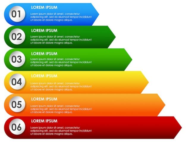 Arco iris presentación descennding inforgraphic