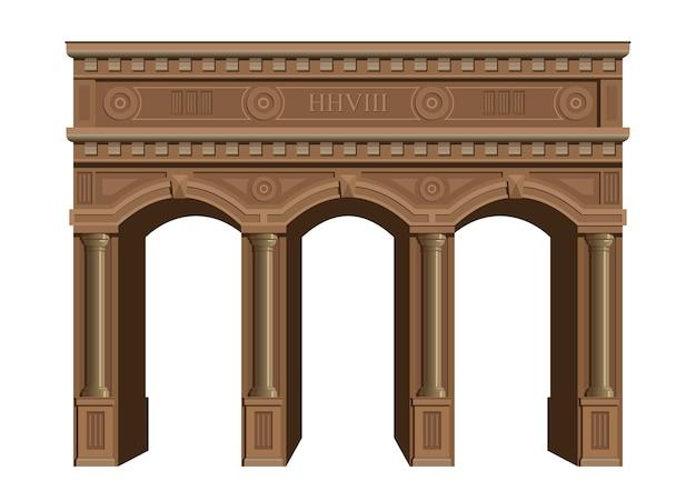 Arco de madera antiguo.