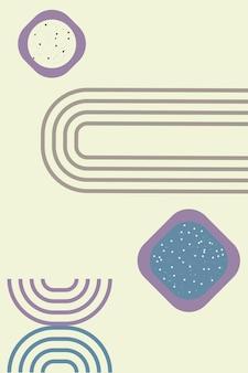 Arco minimalista contemporáneo en el diseño de estilo bohemio moderno para el cartel de la tarjeta ilustración vectorial a