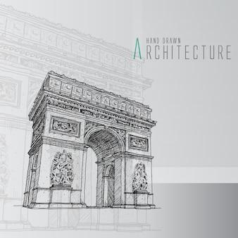 Arco del triunfo dibujado a mano