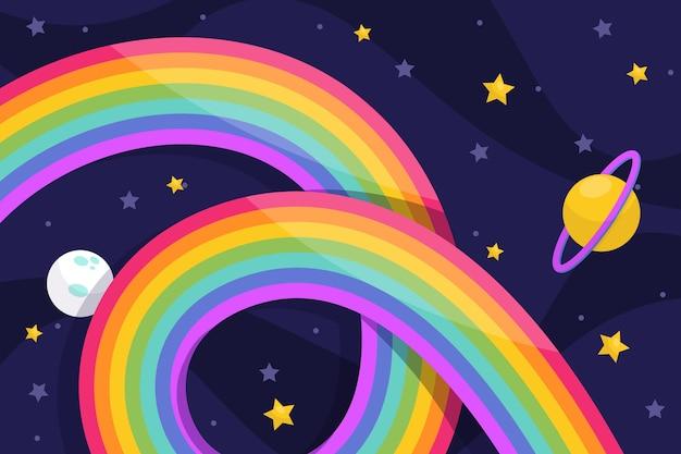 Arcoiris con estrellas