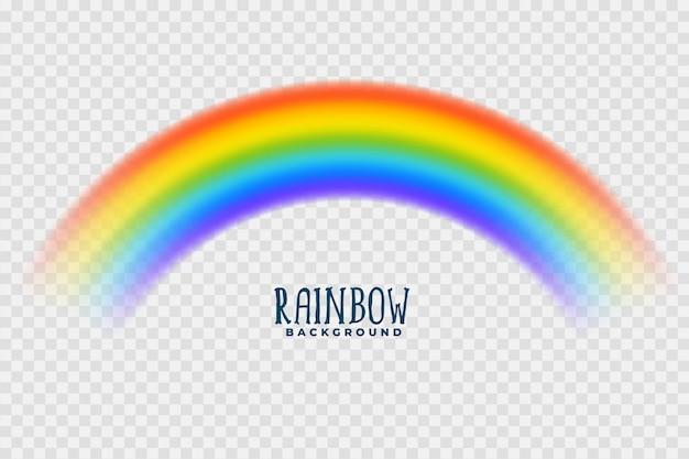 Arcoiris transparente colorido