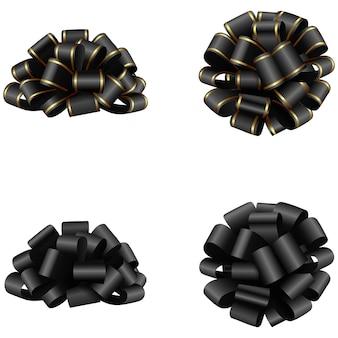 Arcos negros aislados