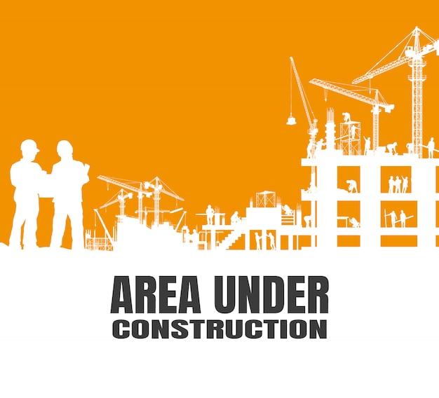 Área bajo fondo de construcción