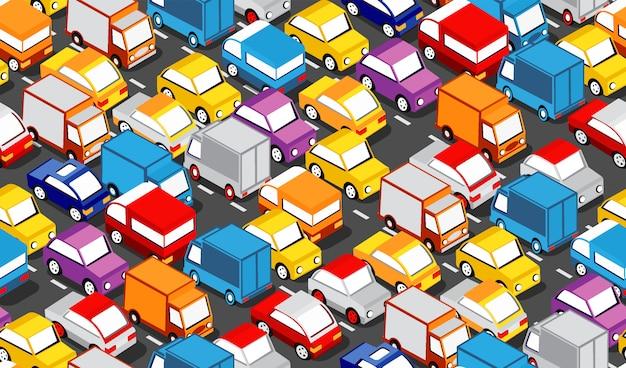 Área isométrica del auto urbano