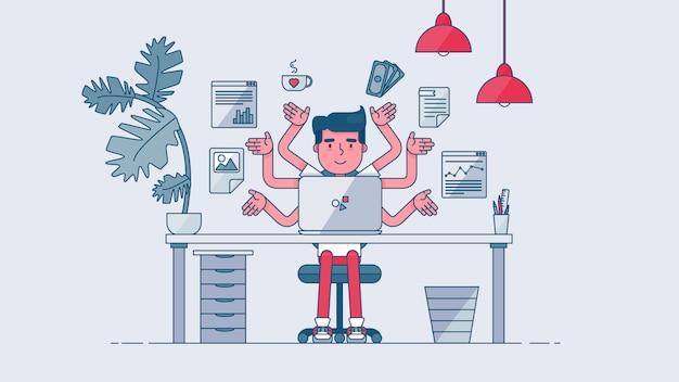 Área de trabajo de tecnología creativa