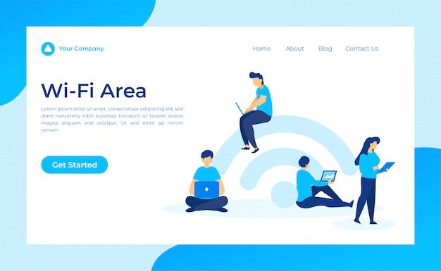 Área de wifi gratis página de destino