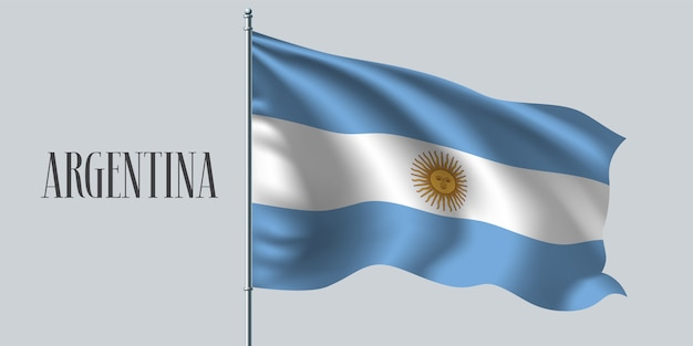 Argentina ondeando la bandera