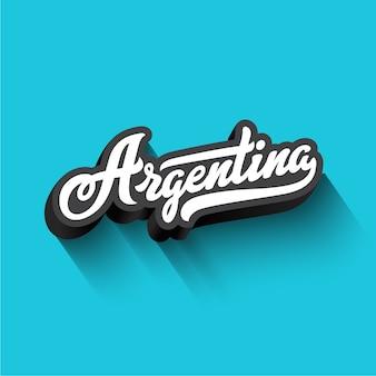 Argentina texto caligrafía letras retro vintage.
