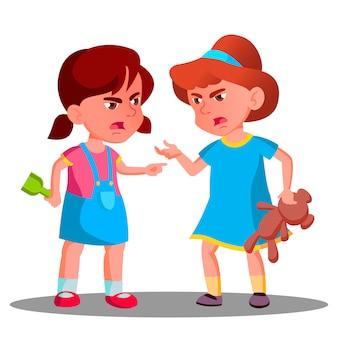 Argumentar a las niñas. gente discutida