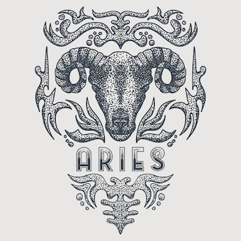 Aries del zodiaco vintage