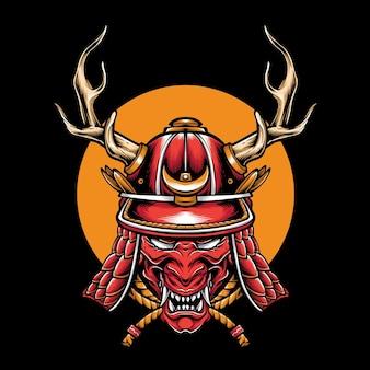 Armadura de cabeza de samurái kabuto