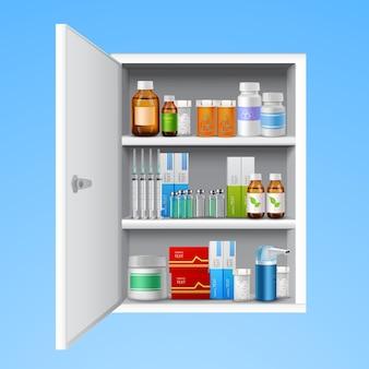 Armario de medicinas realista