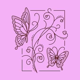 Armonía floral línea arte