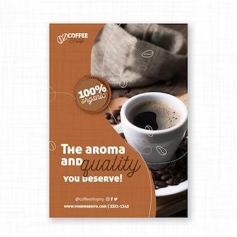 El aroma y la calidad del cartel del café.