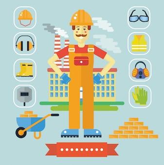 Arquitecto constructor constructor concepto