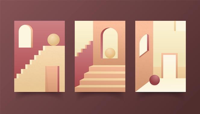 Arquitectura minimalista cubre diseño