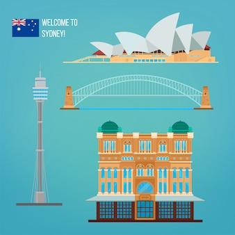 Arquitectura de sydney. turismo australia