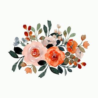 Arreglo floral con acuarela