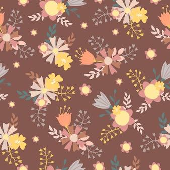 Arreglo floral de patrones sin fisuras