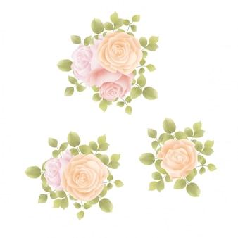 Arreglo de flores de acuarela