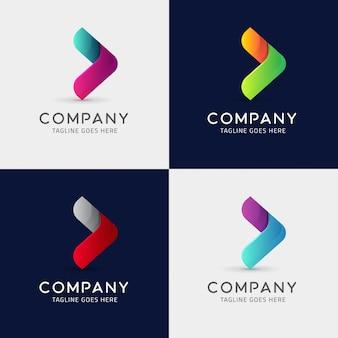 Arrow icon logo template design