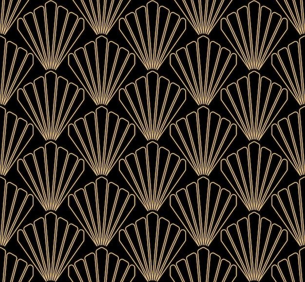 Art deco diseño de patrones sin fisuras