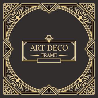 Art deco frontera y plantilla de marco. plantilla creativa en el estilo de 1920 para su diseño.