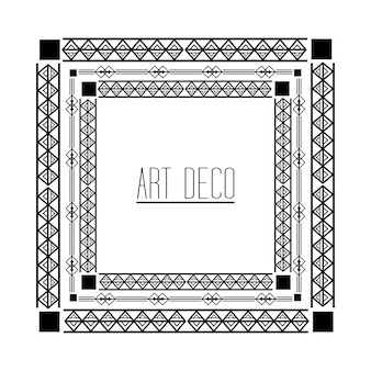 Art deco marco geométrico abstracto decorativo