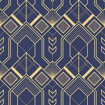 Art deco patrón abstracto geométrico