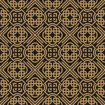 Art deco retro geométrico decorativo de patrones sin fisuras