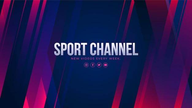 Arte abstracto del canal de youtube de deporte