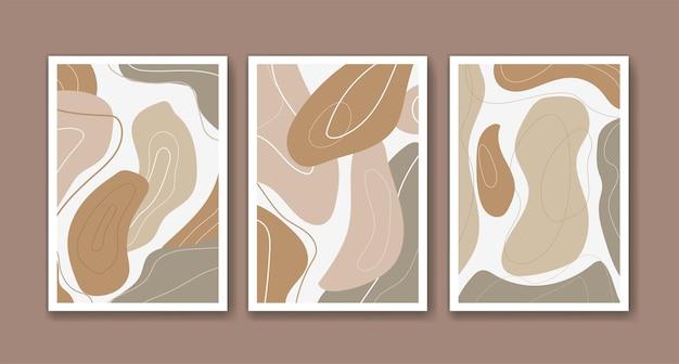 Arte abstracto moderno en color beige.